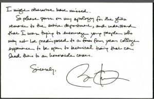 Obama handwriting
